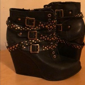 BCBG wedge ankle boot